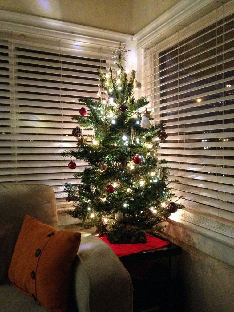 decoracion de navidad ideas para decorar arbol esquina moderno - Arbol De Navidad Pequeo
