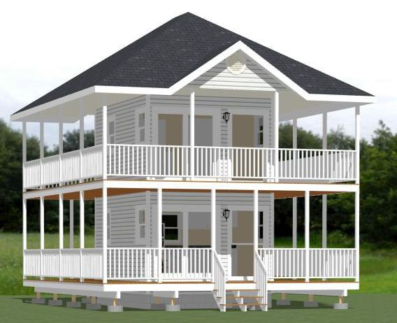 12x16 Tiny House -- #12X16H2A -- 364 sq ft - Excellent Floor Plans