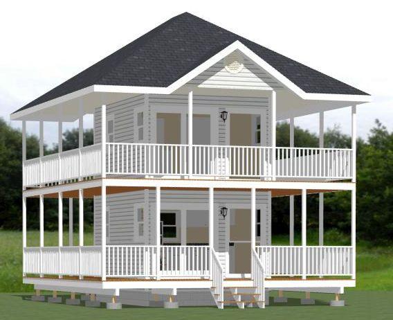 12x16 Tiny House -- #12X16H2A -- 364 sq ft - Excellent Floor Plans