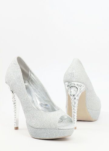 1000  images about Silver Bridesmaid Shoes on Pinterest | Flats