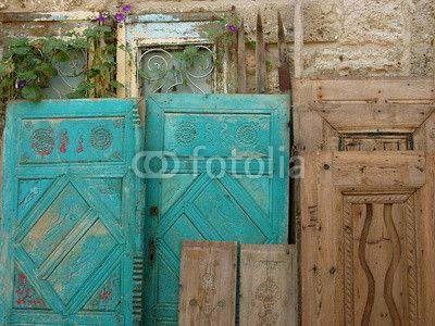 Alte Turen Aus Holz In Alacati Bei Cesme In Der Provinz Izmir In