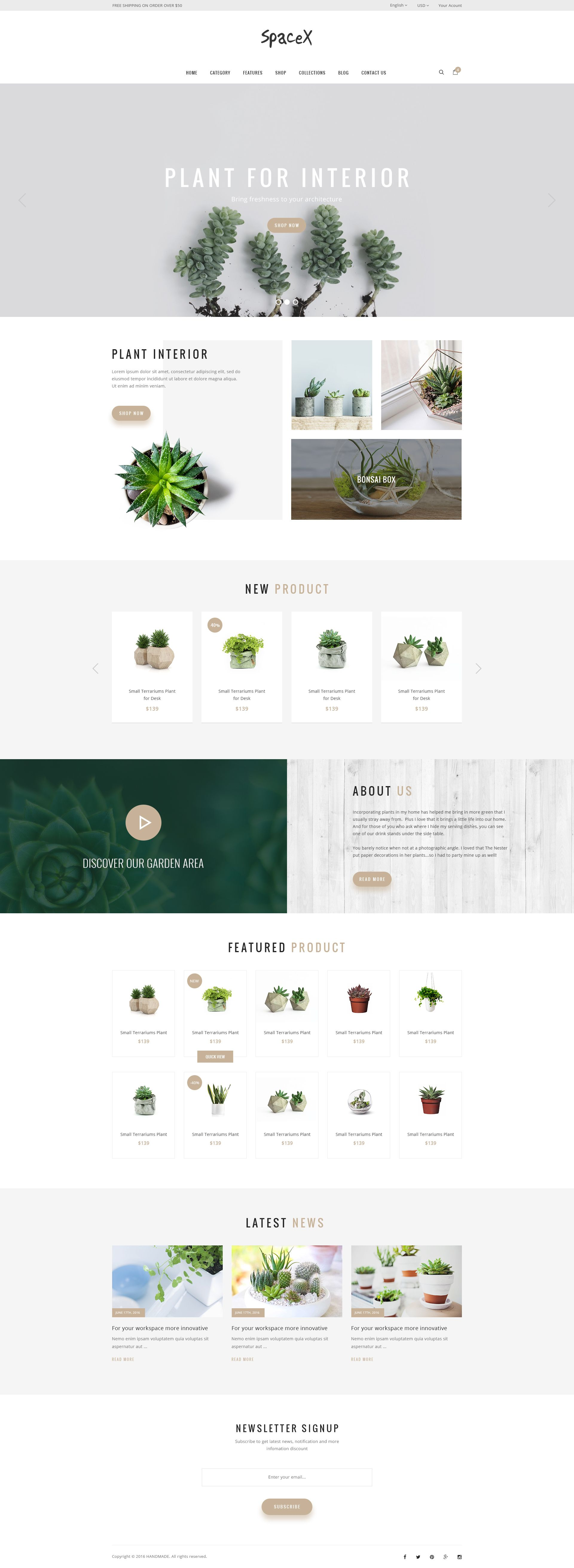 SpaceX Architecture and Interior Design Agency PSD Template Design