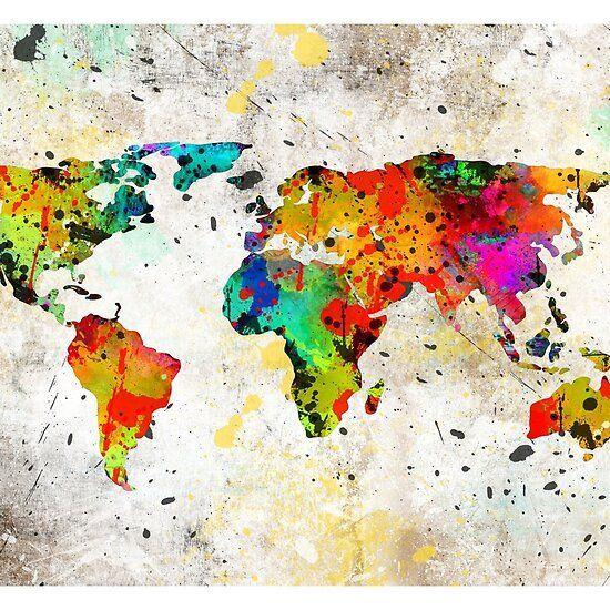 Map Of The World Watercolor Water Color World Map World Map Art