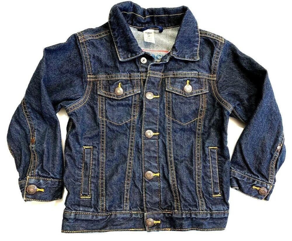 Oshkosh B Gosh Boys Denim Jacket Jean Dark Blue Wash Snap Front Cotton Size 5t Oshkoshbgosh Jacket Everyday Boys Denim Jacket Clothes Boy S Clothing [ 824 x 1000 Pixel ]