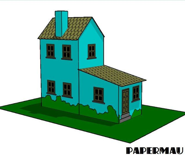 PAPERMAU: Simple Miniature House Paper Model - by Papermau ... on paint house designs, pod houses designs, bungalow house designs, architectural house designs, jazz house designs, western house designs, traditional house designs, narrow house designs, modern house designs, little house designs, wooden house designs, small house designs, drawing house designs, green house designs, english house designs, bottle house designs, american house designs, glass house designs, arabian house designs, greek house designs,