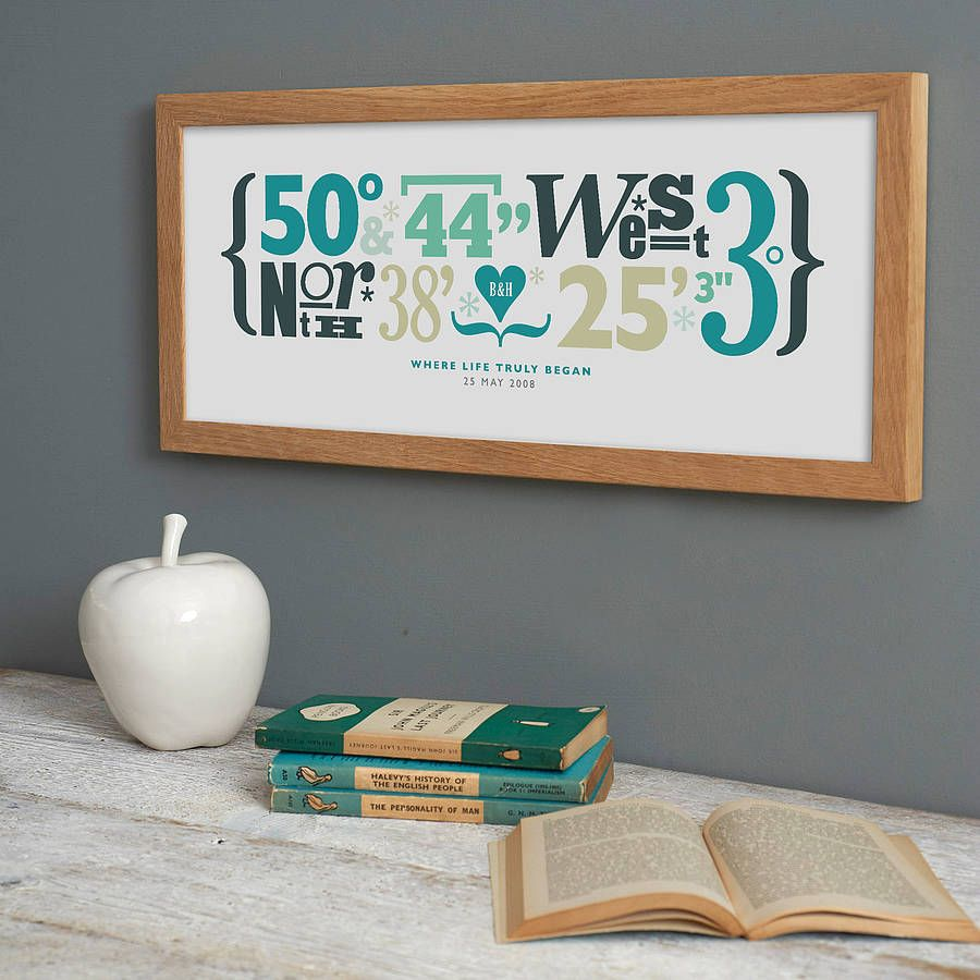personalised coordinates print home sweet home pinterest gifts