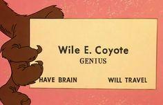 Wile e coyote business card art pinterest explore fun art coyotes and more wile e coyote business card colourmoves
