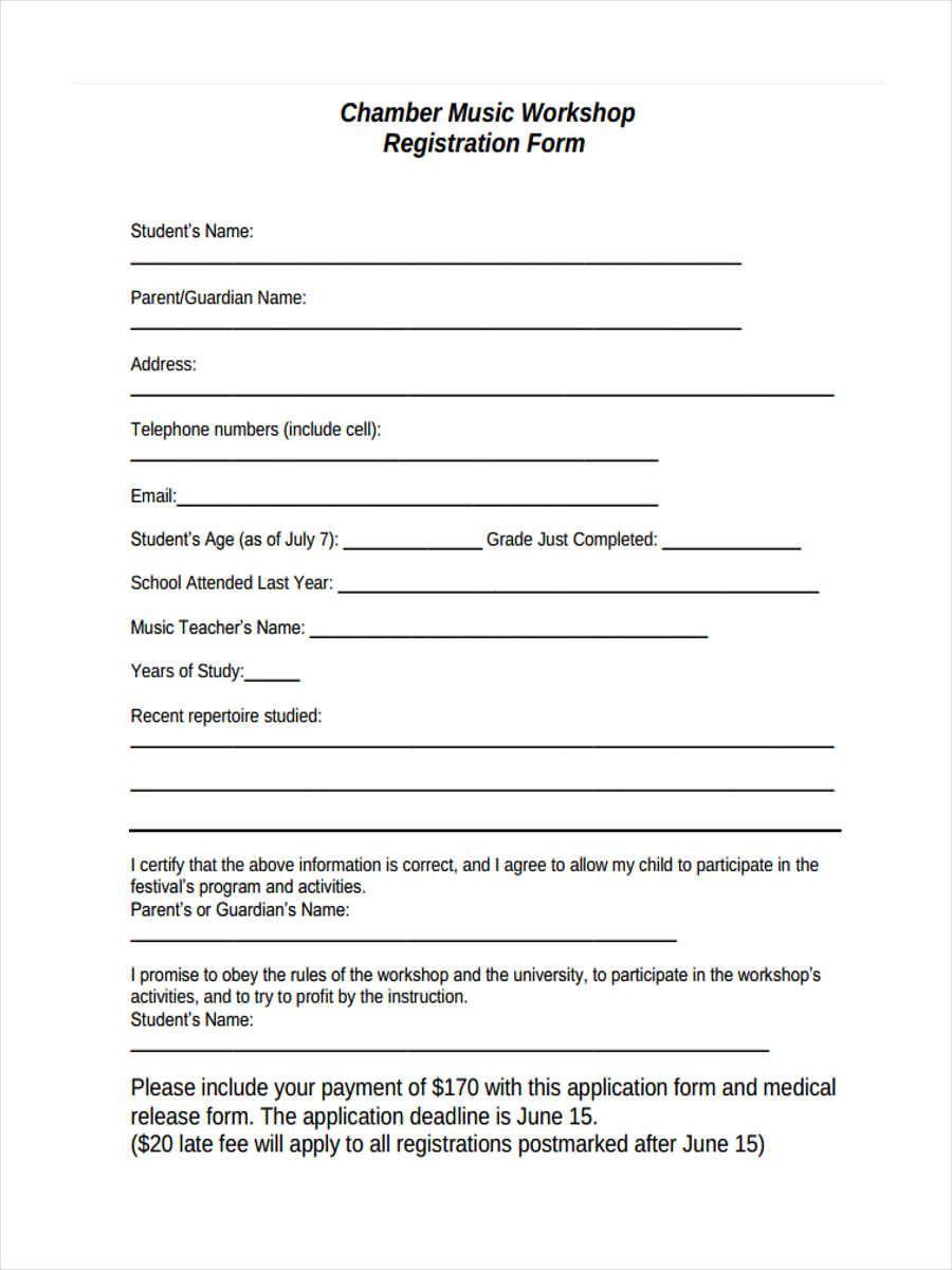 Free 10 Sample Workshop Registration Forms In Ms Word Pdf Intended For Registration Form Template Word F Word Free Registration Form Event Planning Template Registration form template free download