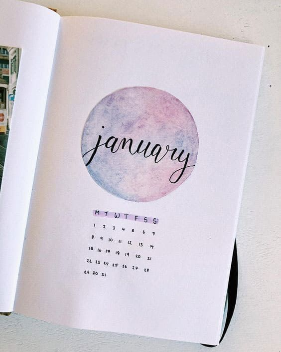 January Bullet Journal Cover Page Ideas {Get inspired!} #bulletjournaljanvier