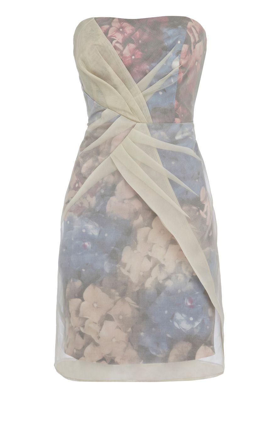 Karen Millen Strapless Layered Dress Multicolour [#KMM097] - $84.66 :