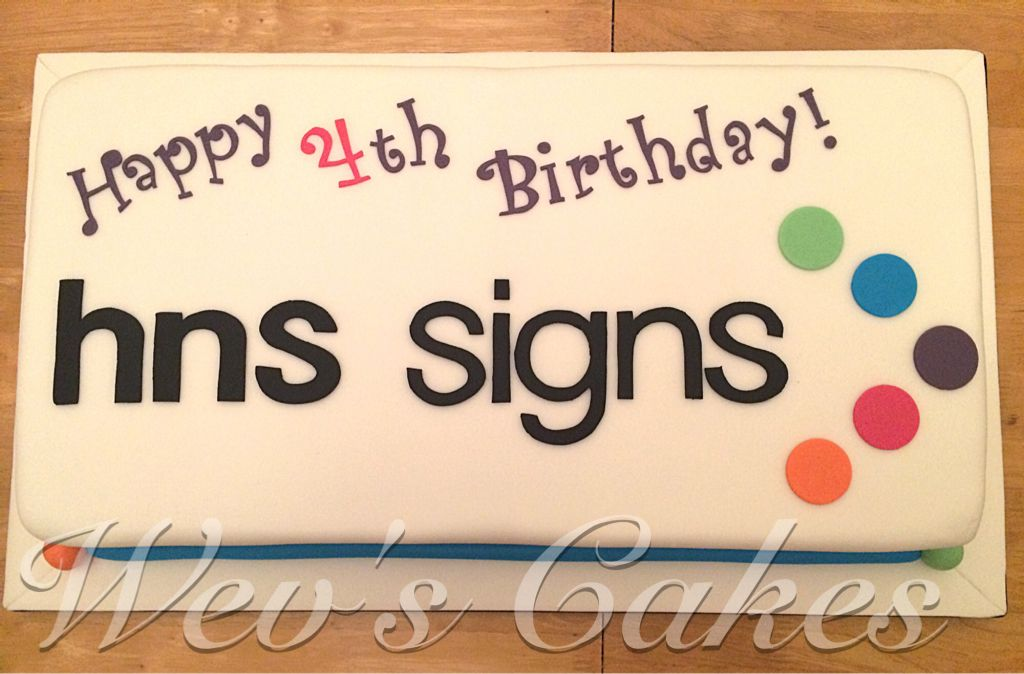 Hns Signs Corporate Birthday Cake My Cakes Pinterest Birthday