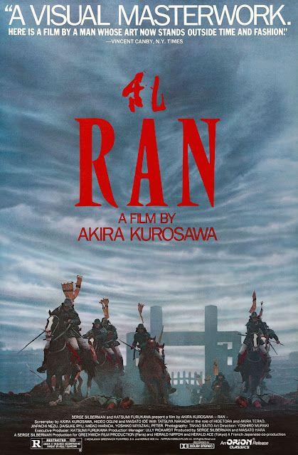 Ran 1985 Movie Posters Good Movies Japanese Movies
