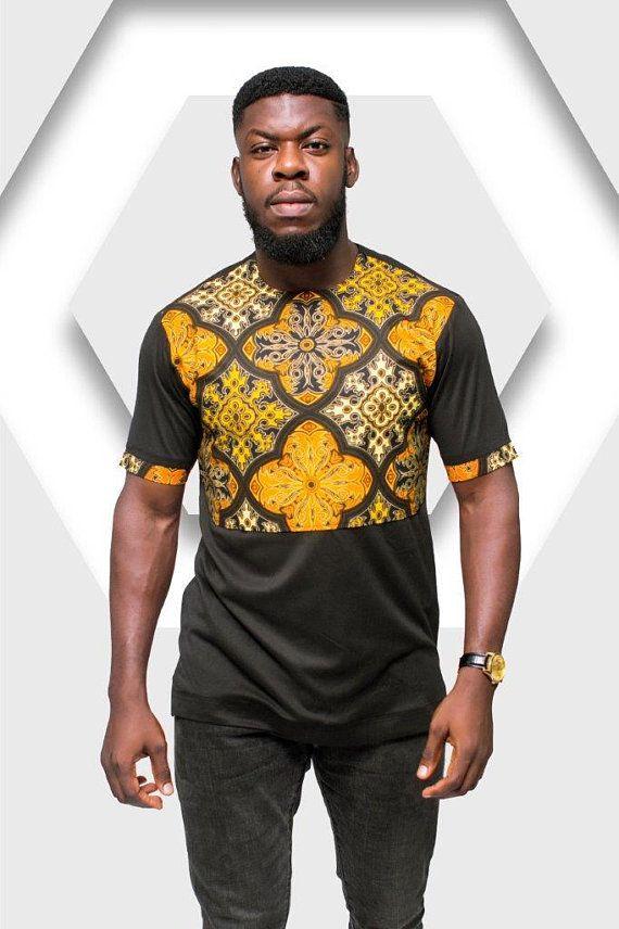 06203b8b8 Ankara TShirt, African Print TShirt, Print Tshirt, African Men Clothing,  African Mens Wear, African