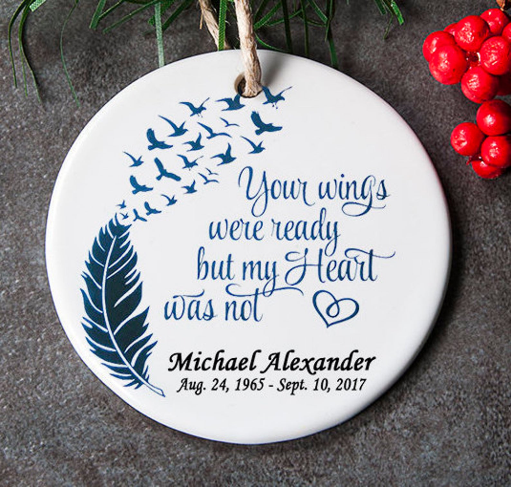 Memorial Ornament For Lost Loved One In Loving Memory Etsy Memorial Ornaments Christmas Ornaments Gifts Memory Tree