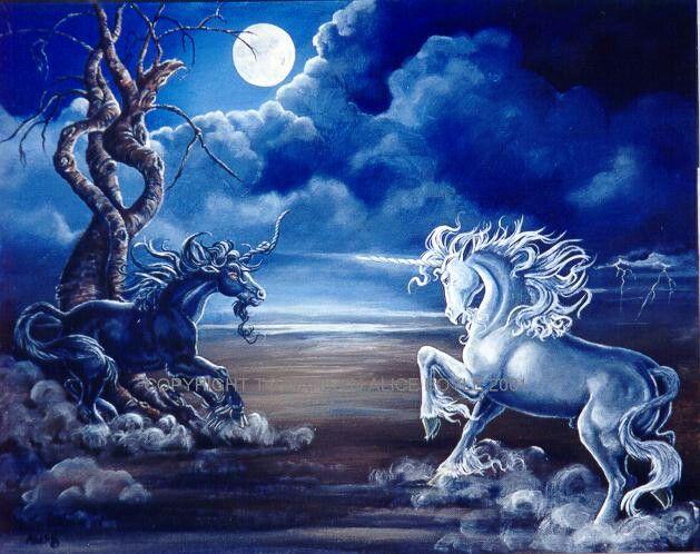 Good vs evil  unicorns