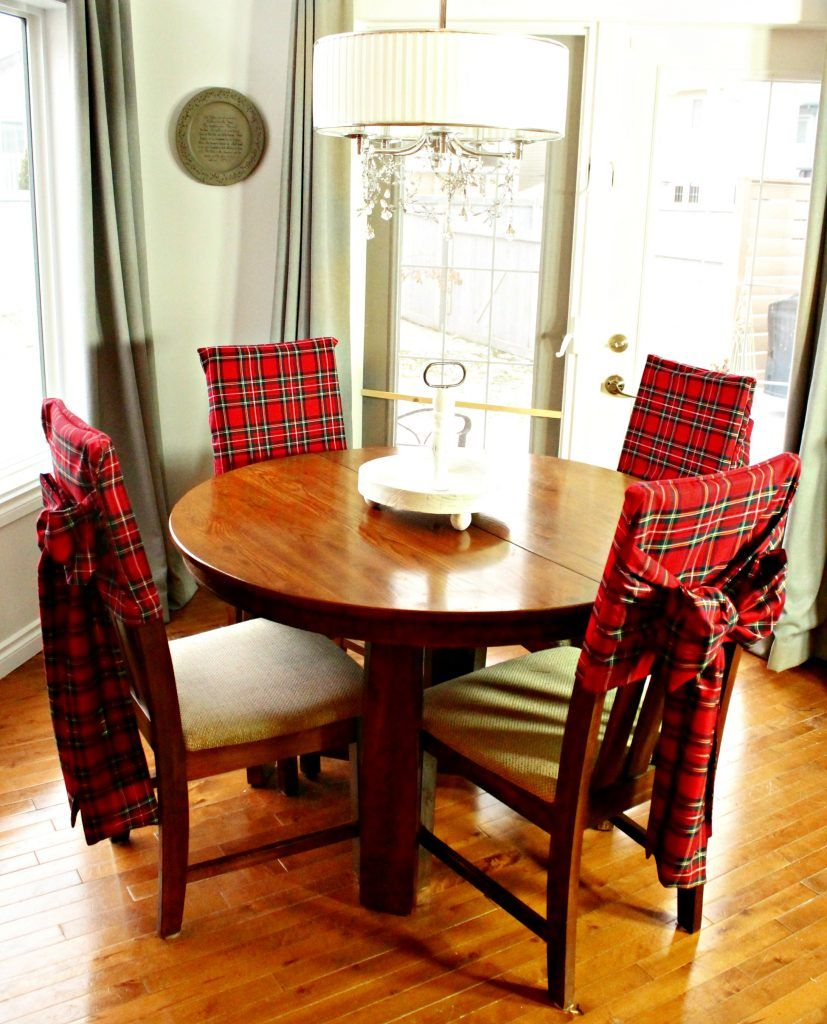 Diy Christmas Tartan Chair Covers Dining Room Chair Covers