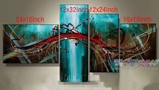 O8P108 4pcs Hand painted Oil Paintings Art Home Decor Modern...
