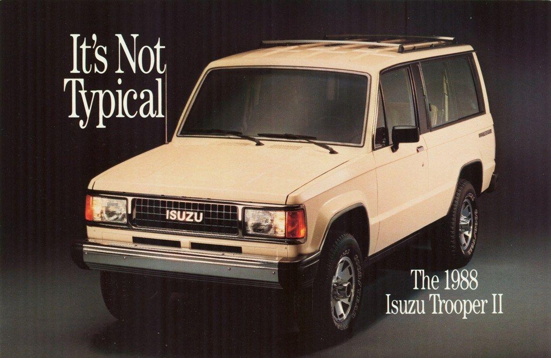 1988 Isuzu Trooper Ii Ad Trooper Pickup Trucks Suv Trucks
