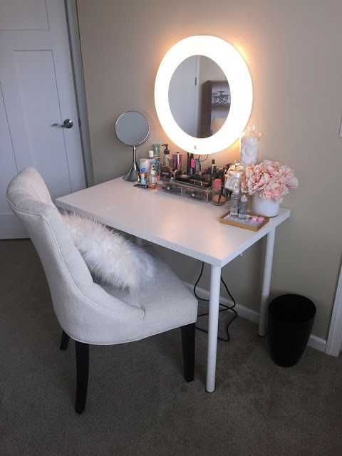 Love This Simple Small Vanity With The Mirror With A Built In