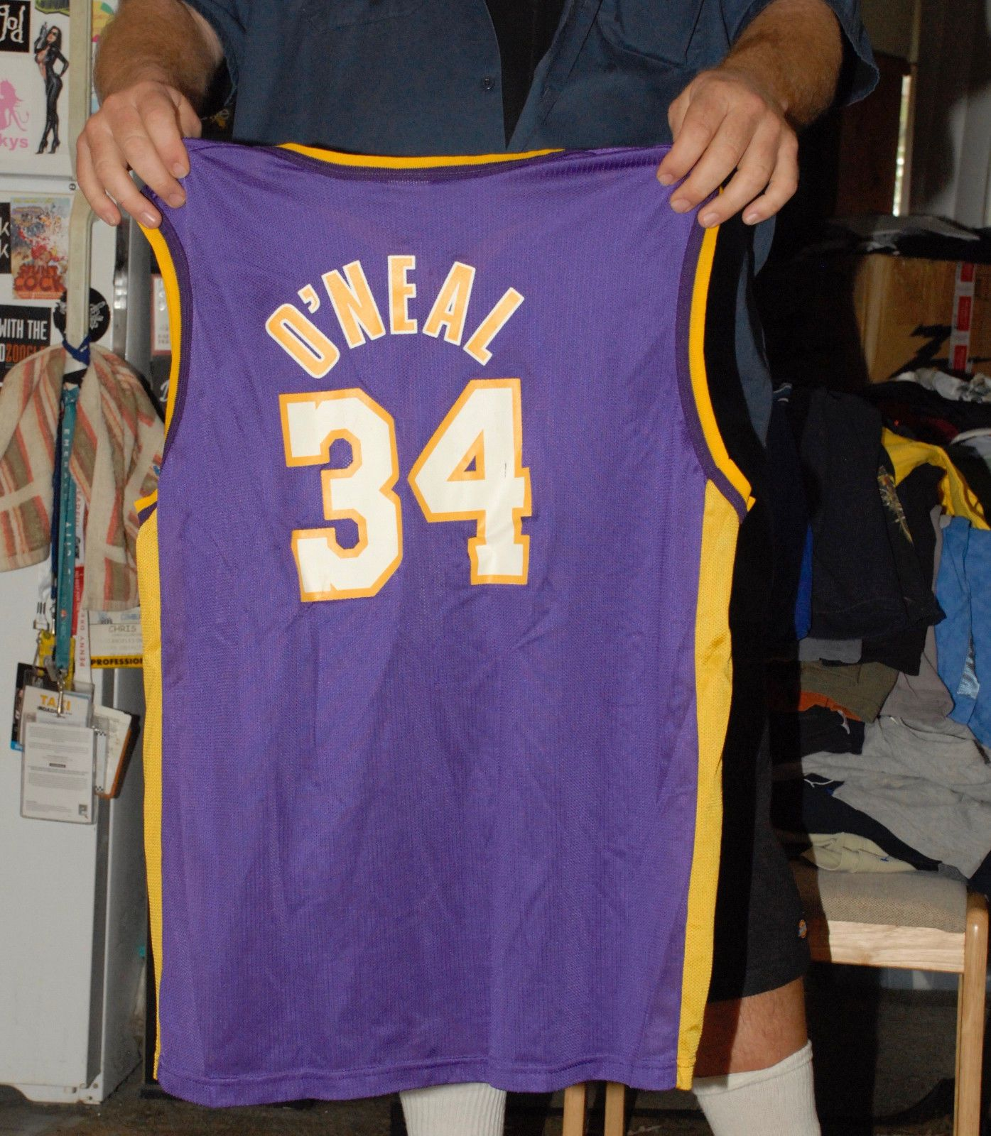 SHAQUILLE O NEAL SHAQ LOS ANGELES LAKERS VINTAGE CHAMPION JERSEY 44 MINT-  WOW (eBay Link) 3d554dcd2