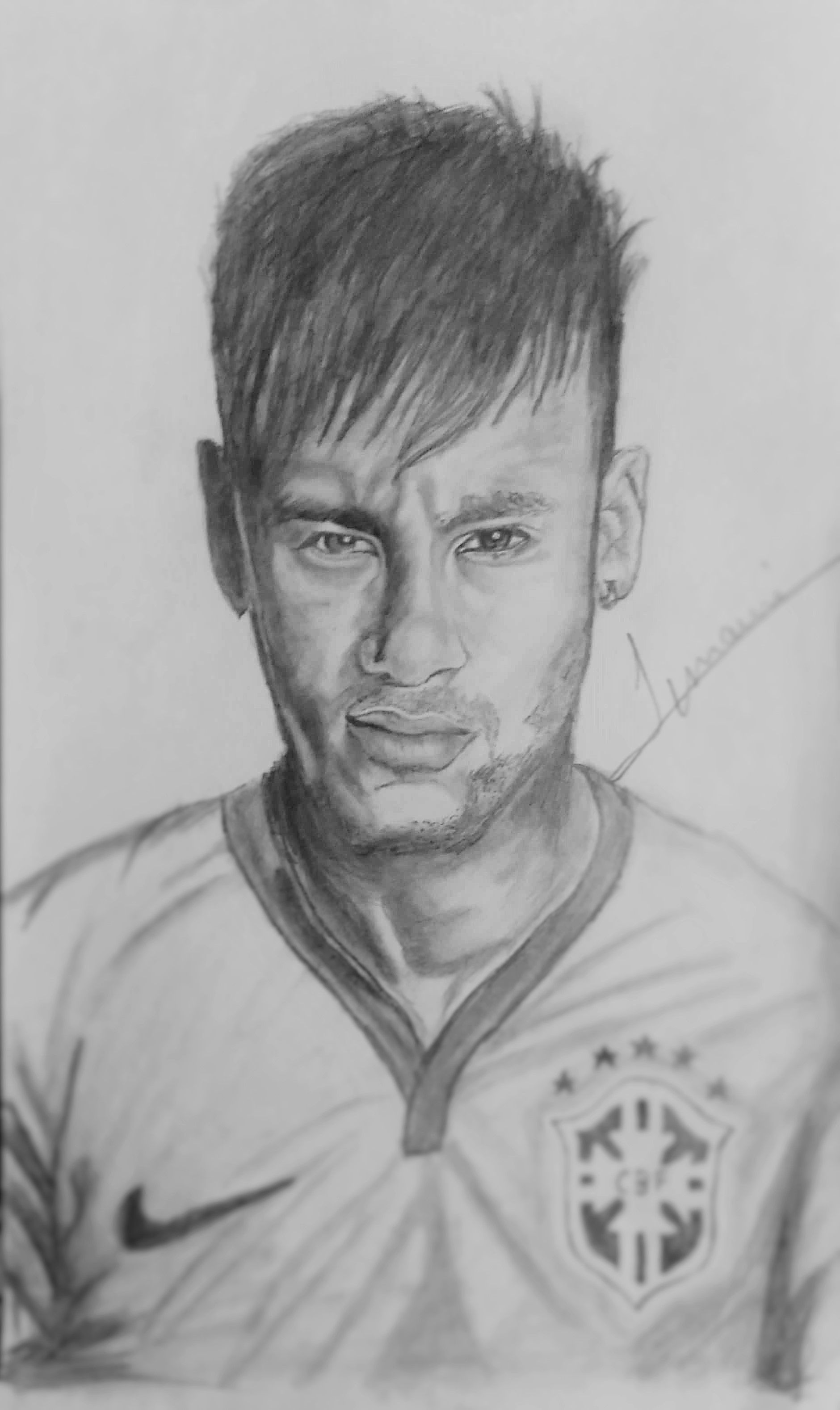 Neymar jr sketch made by me watch the making here https