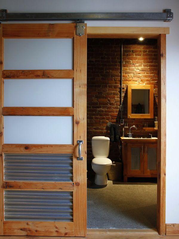 Industrial Style | Eclectic bathroom, Bathroom barn door ... on barn bedroom design, barn red bathroom, barn board bathroom vanities, barn exterior design, barn house bathrooms, barn bathroom lighting, barn loft design, barn lighting design, barn bathroom decor, barn home design, barn style bathrooms, barn bathroom vanity, barn cabinets design, barn wood bathroom, barn door design, barn architecture, barn toilet design, barn basement design, barn interior design, barn tin bathroom,