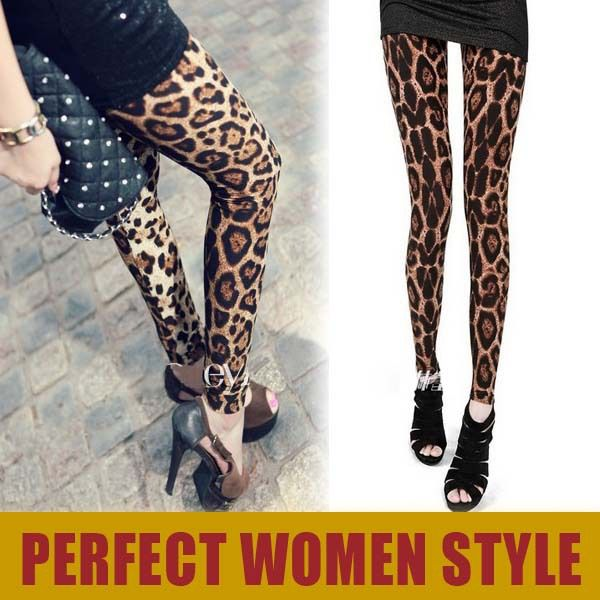 Hot Sexy! VQ167 New 2013 Autumn Thin Leopard Printed Leggings for Women large Size XL Pencil Pants Women $9.00