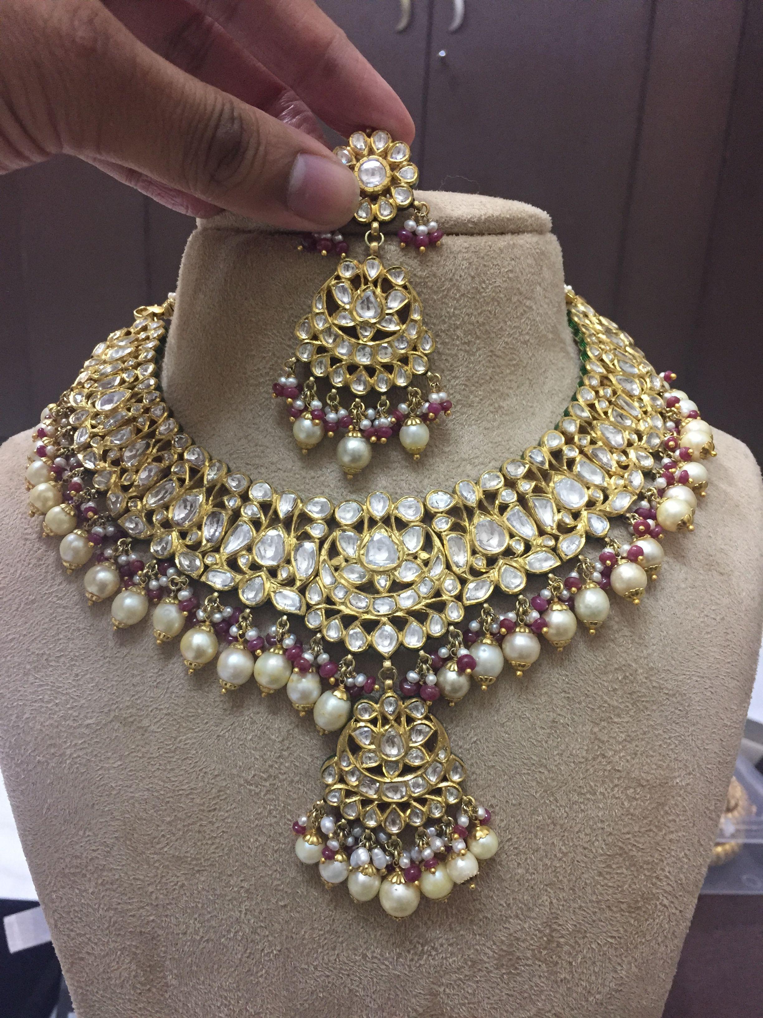 Jadau Necklace Design Indian Hhhh Jewellery Designs