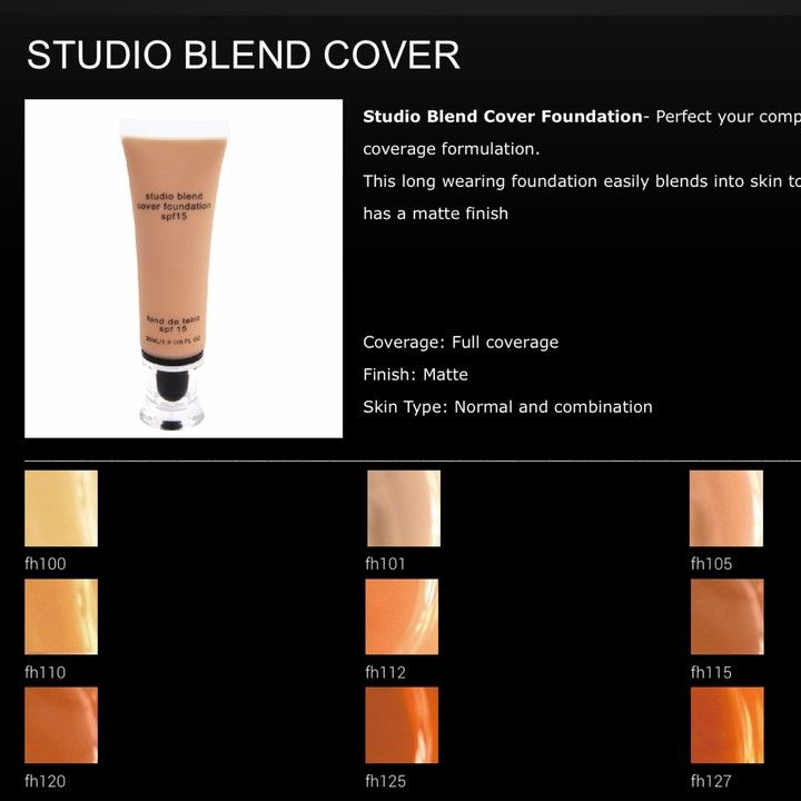 STUDIO BLEND COVER From G&B Fashion & Beauty For $45 On