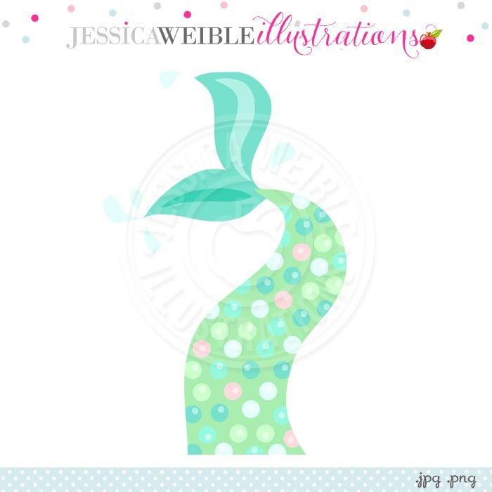 mermaid tail digital clipart jw illustrations jwi