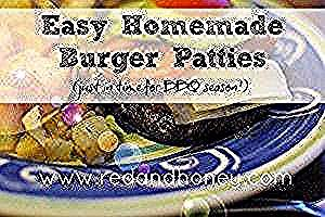 Easy Homemade Burger Patties  Easy Homemade Burger Patties  Red and Honey