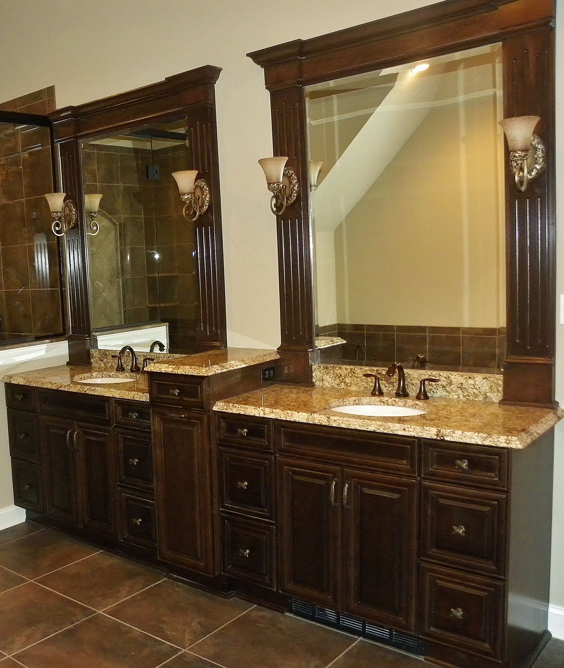 Custom Recessed Beveled Bathroom Vanity Mirrors Furnished And Installed By Rex Gl Mirror