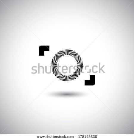 camera vector icon - digital camera symbol minimalistic design. This graphic illustration also photography, point & shoot camera, DLSR & SLR camera, photos, pictures & images creation, etc - stock vector