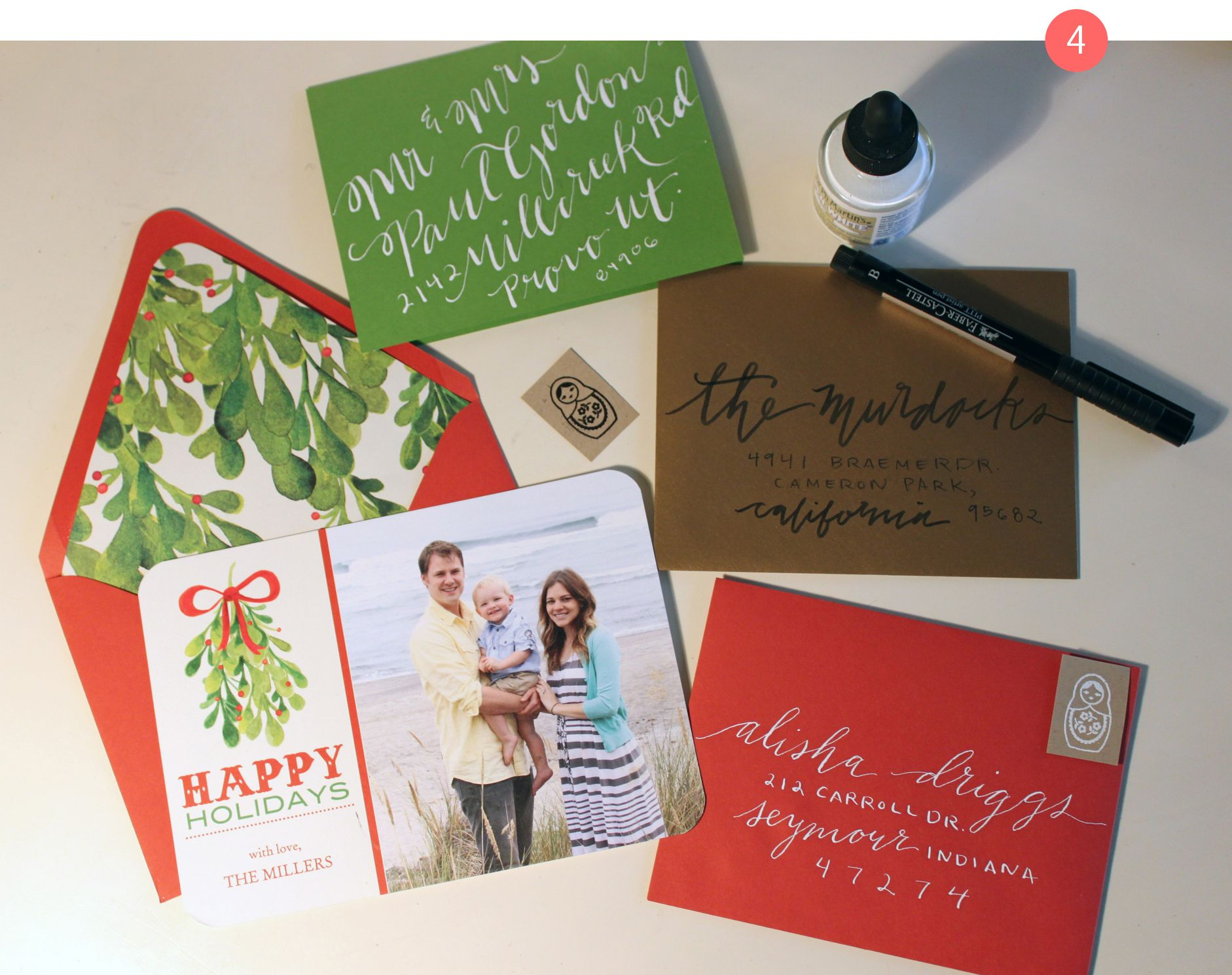 Fancy up your Christmas card envelopes with these suggestions and ...