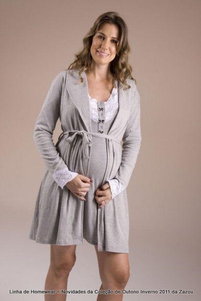 5dbe79093 Como Escolher a Camisola para a Maternidade