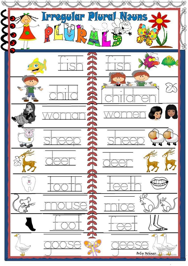 Irregular Nouns Worksheet Free Esl Printable Worksheets Made By Teachers Irregular Plurals Irregular Nouns Plurals
