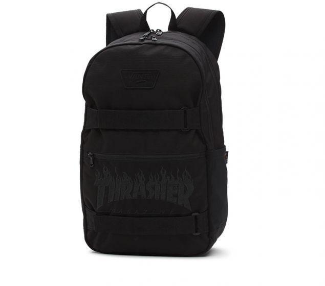 904724a0e5237 Vans x Thrasher Backpack Black Skatepack Authentic III Skateboard School  Bag 2