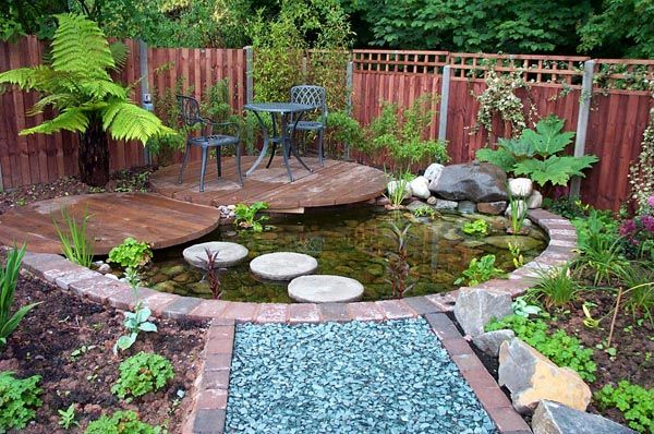 Small Garden Pond Ideas every pond should be surrounded by stones to remind mountain landscapes the more you add Find This Pin And More On Gardening Ideas Create A Relaxing Garden Pond