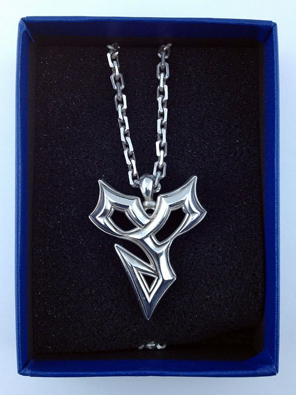 Final Fantasy X Silver 925 Necklace Pendant Tidus Official Square
