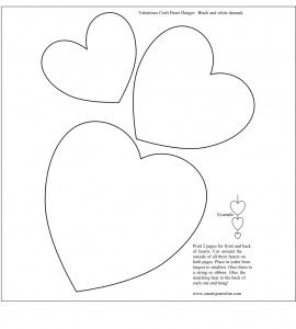 Free Heart Template Printable For Embroidery   Diy
