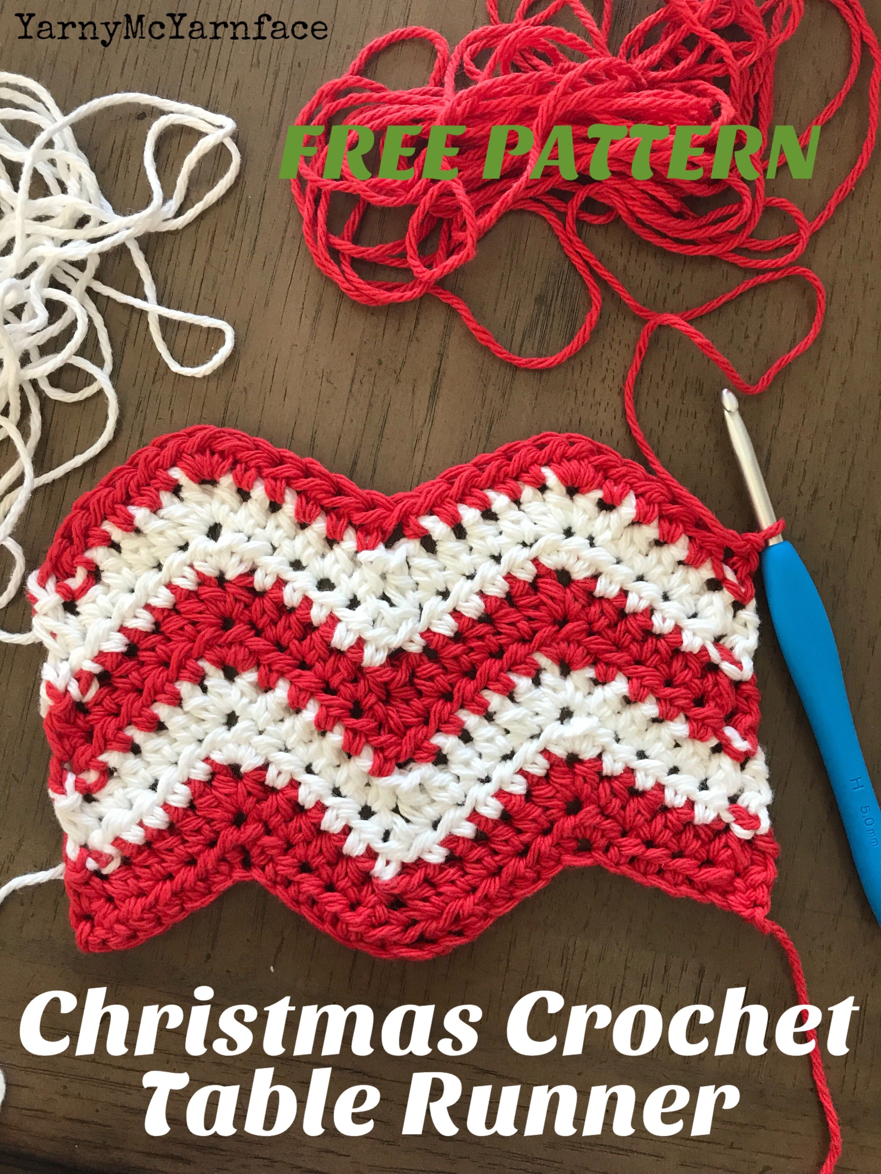 Cute and free crochet pattern! A Chevron Christmas Table Runner ...