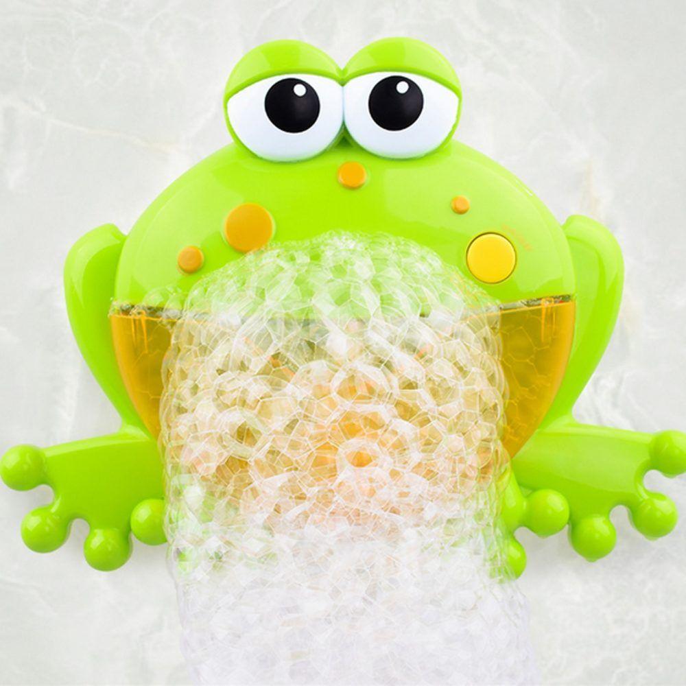 Bubble Machine Lovely Frogs Automatic Bubble Maker Blower Music Bath Kids Toys