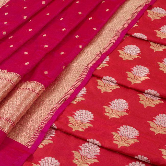 59acde5061 Shivangi Kasliwaal Handwoven Banarasi Katan Silk 2 Piece Salwar Suit  Material…