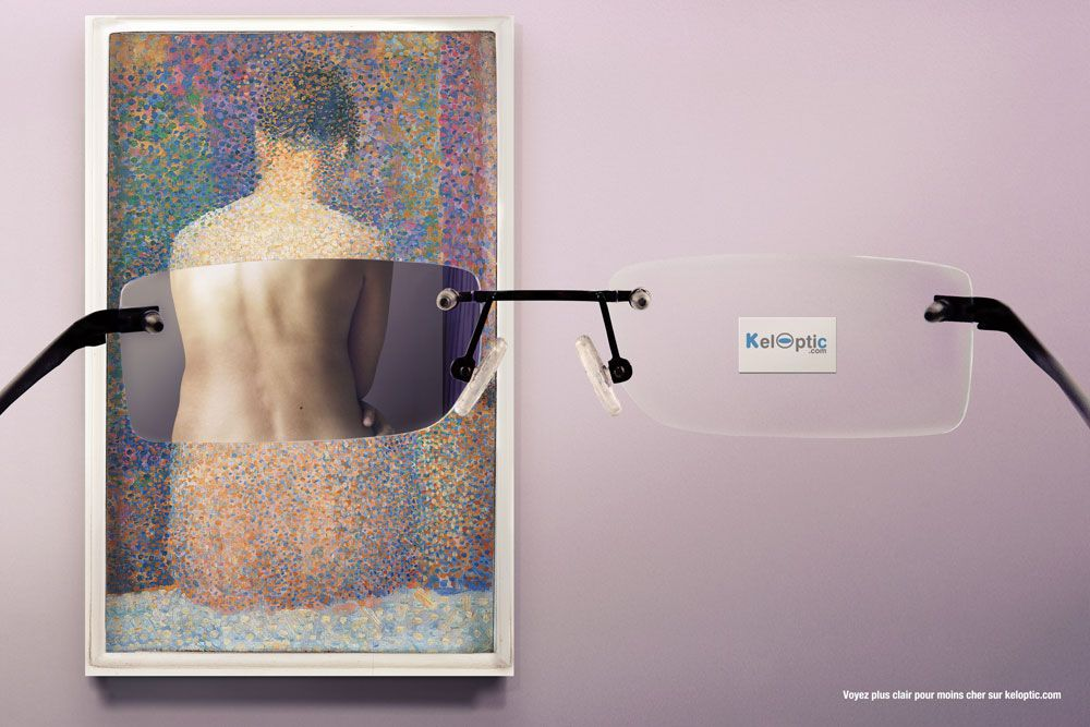 """I can see clearly now - Creative Advertising """"Seurat"""" - Keloptic (1000×667)"""