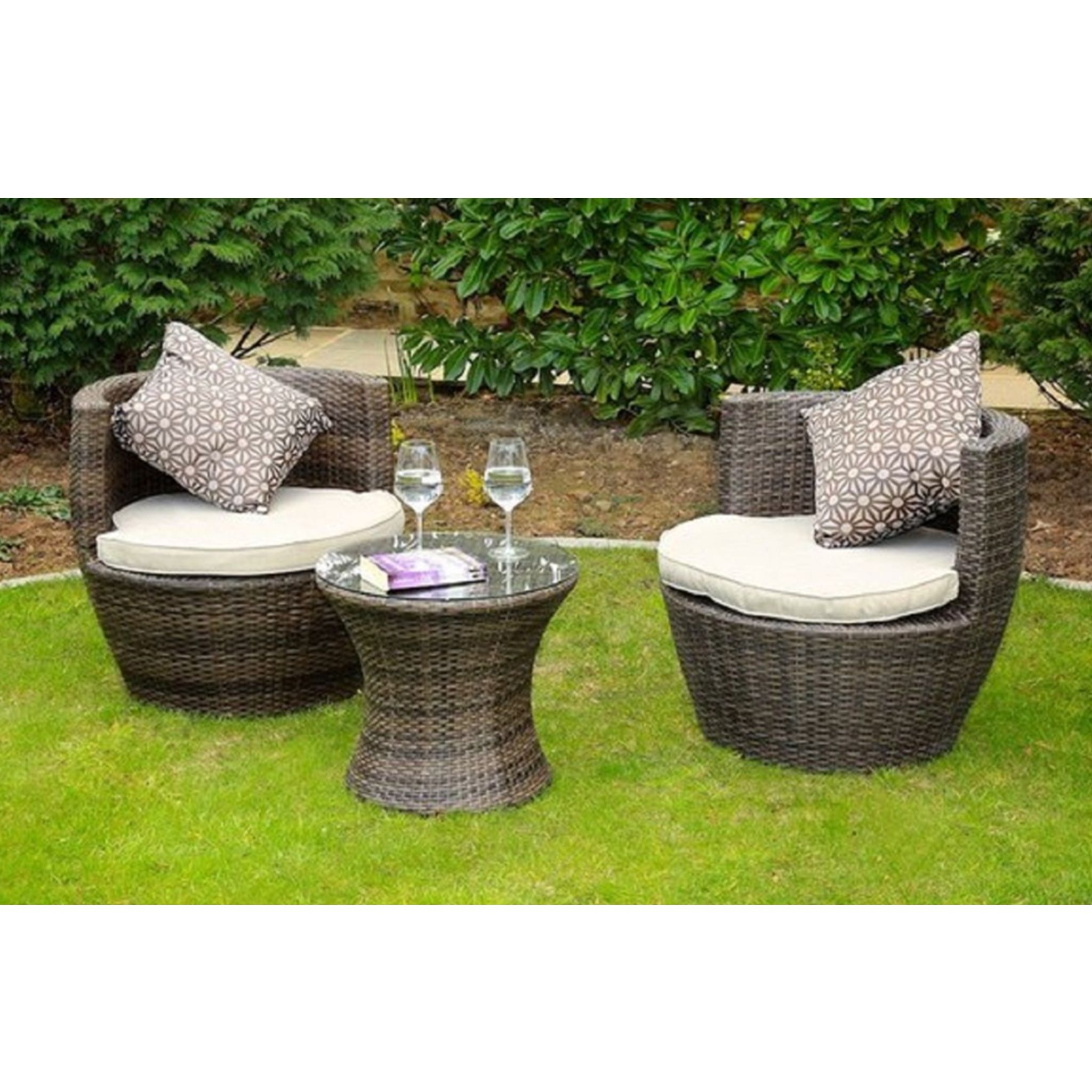 Madellaine Brown Outdoor Patio Dining Conversation Set 3 Piece Outdoor Patio Furniture Sets Patio Furniture Sets Outdoor Patio Furniture