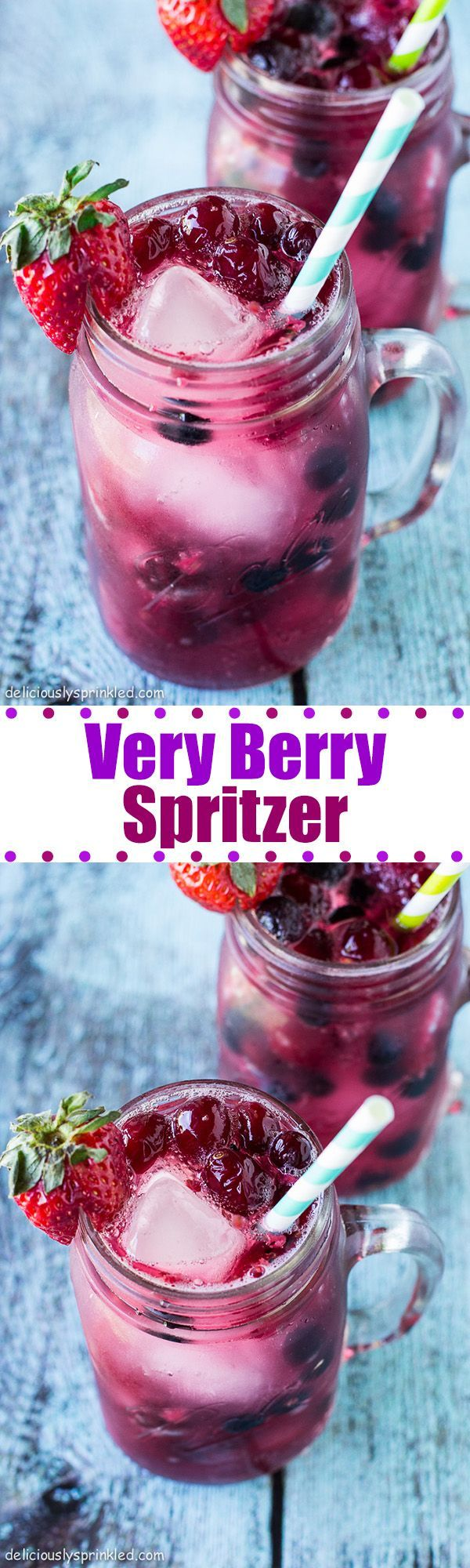 Very Berry Spritzer- a refreshing drink that everyone will love! #nonalcoholicsummerdrinks