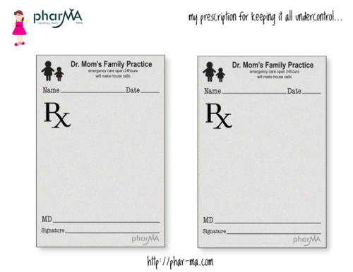 Free Printable Dr MomS Prescription Pad These Prescription