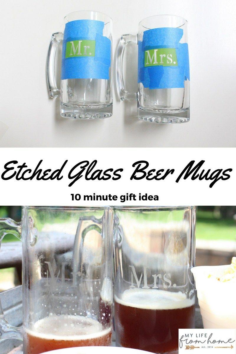 Create With Me Diy Etched Glass Beer Mugs Beer Mugs Personalized Beer Mugs Etching Glassware Diy