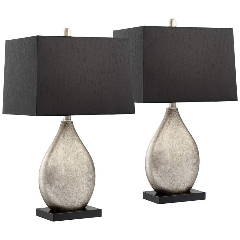 Marco Table Lamp With Black Shade Set Of 2 39k50 Lamps Plus Table Lamp Sets Lamps Living Room Modern Table Lamp