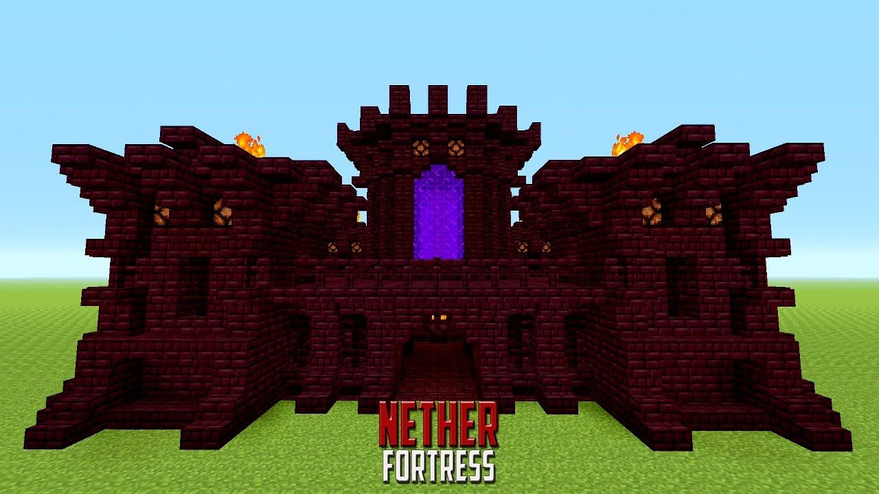 minecraft how to build a small castle | tutorial | nether castle